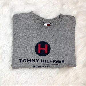 Tommy Hilfiger Mens Gray Tee T Shirt